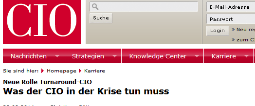 Was der CIO in der IT-Krise tun sollte: Interview mit dem CIO-Magazin