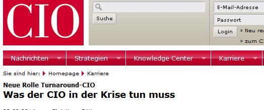 IT-Turnaround: Buchempfehlung im CIO-Magazin für IT-Transformation